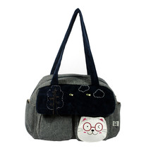 [Sunny Day] Cotton Canvas Shoulder Bag Swingpack - $28.99