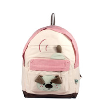 [Naughty Bear] Cotton Fabric Art School Outdoor Backpack - $30.99