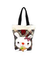 [Rabbit & Pineapple] Cotton Canvas Shoulder Tote Bag - $26.99