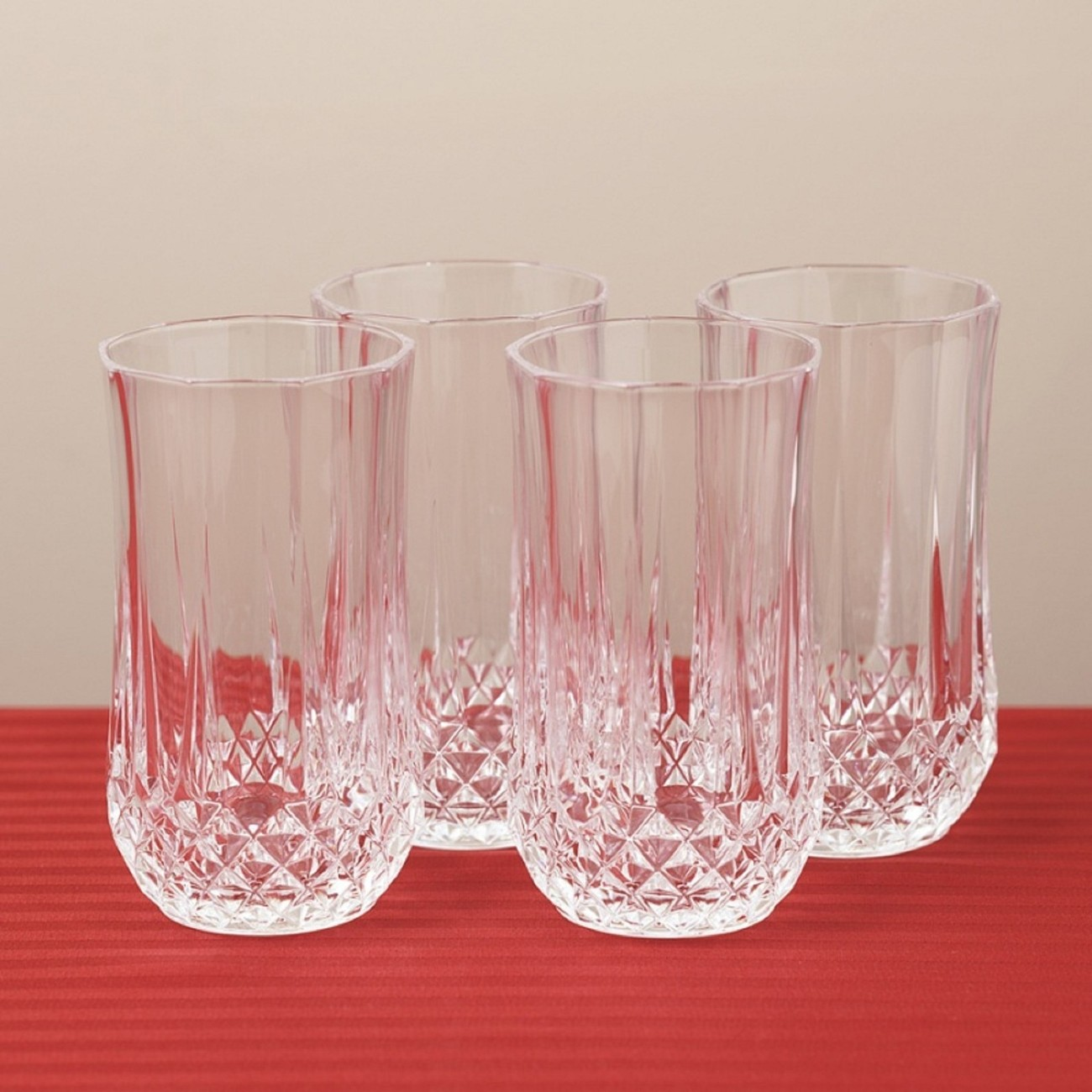 Crystal Highball Tumbler Glasses