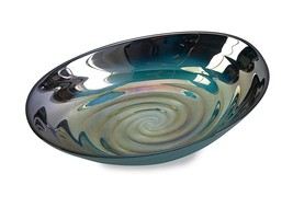 Imax 83101 Moody Swirl Glass Bowl with Glossy Finish in Ocean Colors - F... - €23,59 EUR