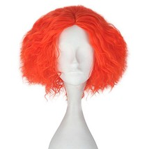 Miss U Hair Synthetic Short Curly Hair Men Boy Red Party Cosplay lolita Wig