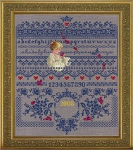 Fallen Roses cross stitch Lavendar & Lace Marilyn Leavitt-Imblum - $14.40