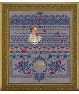 Fallen Roses cross stitch Lavendar & Lace Marilyn Leavitt-Imblum - $14.40
