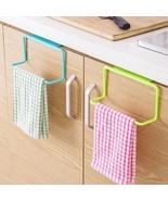 Over Door Tea Towel Rack Bar Hanging Holder Rail Organizer Bathroom Kitc... - $11.13