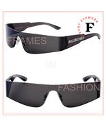 BALENCIAGA MONO 0041 Black Slim Fashion Wrap Mask Sunglasses BB0041S 001... - $240.47