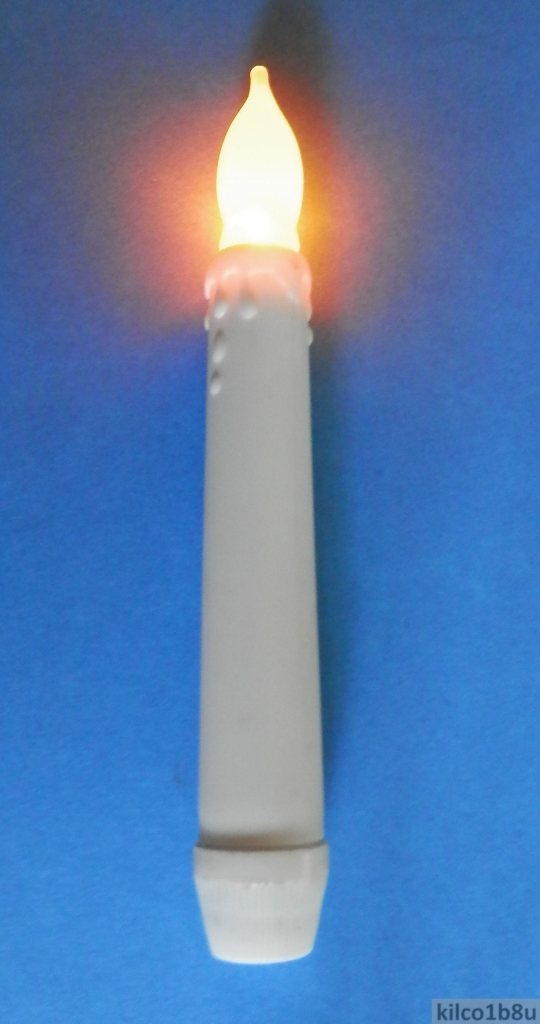 Battery Operated LED Flickering Candle Candlestick