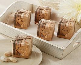 Rustic Hearts Love Eco Wood Country Western Outdoor Bridal Wedding Favor... - $66.61+