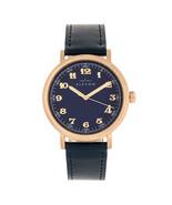 Elevon Felix Leather-Band Watch - Rose Gold/Blue - $250.00