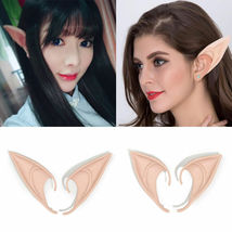 Short Prosthetic Fairy Pixie Elf Ear Halloween - 1x w/Random Color and Design image 7