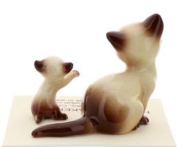 Hagen-Renaker Miniature Cat Figurine Siamese Mama and Kitten Chocolate Point image 3