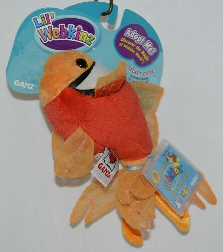 Ganz Brand Lil Webkins HS516J2A Adopt A Pet Tomato Color Plush Clown Fish