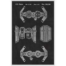 Star Wars Tie Bomber Patent Blueprint , Toys and Games Photo Art - $11.39+