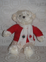 Christmas Vtg Hallmark Plays Jingle Bells Bears Red Top Green & Red Bell... - $9.99
