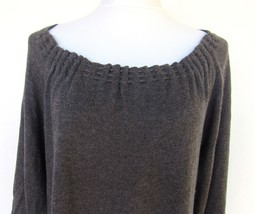 Michael Kors Grey Sweater Dress Woman's Large Derby 3/4 Sleeve Soft Cott... - $67.68