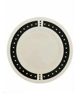 """CORELLE Ultra Vitrelle 2 TEMPO Dinner Plate Black White Squares 10"""" Repl... - $13.85"""