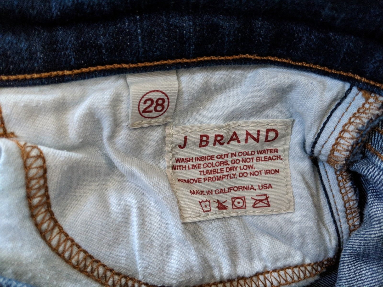 J Brand 28 Aruba Denim Skinny Slim Stretch Medium Wash Jeans Womens Pants image 6