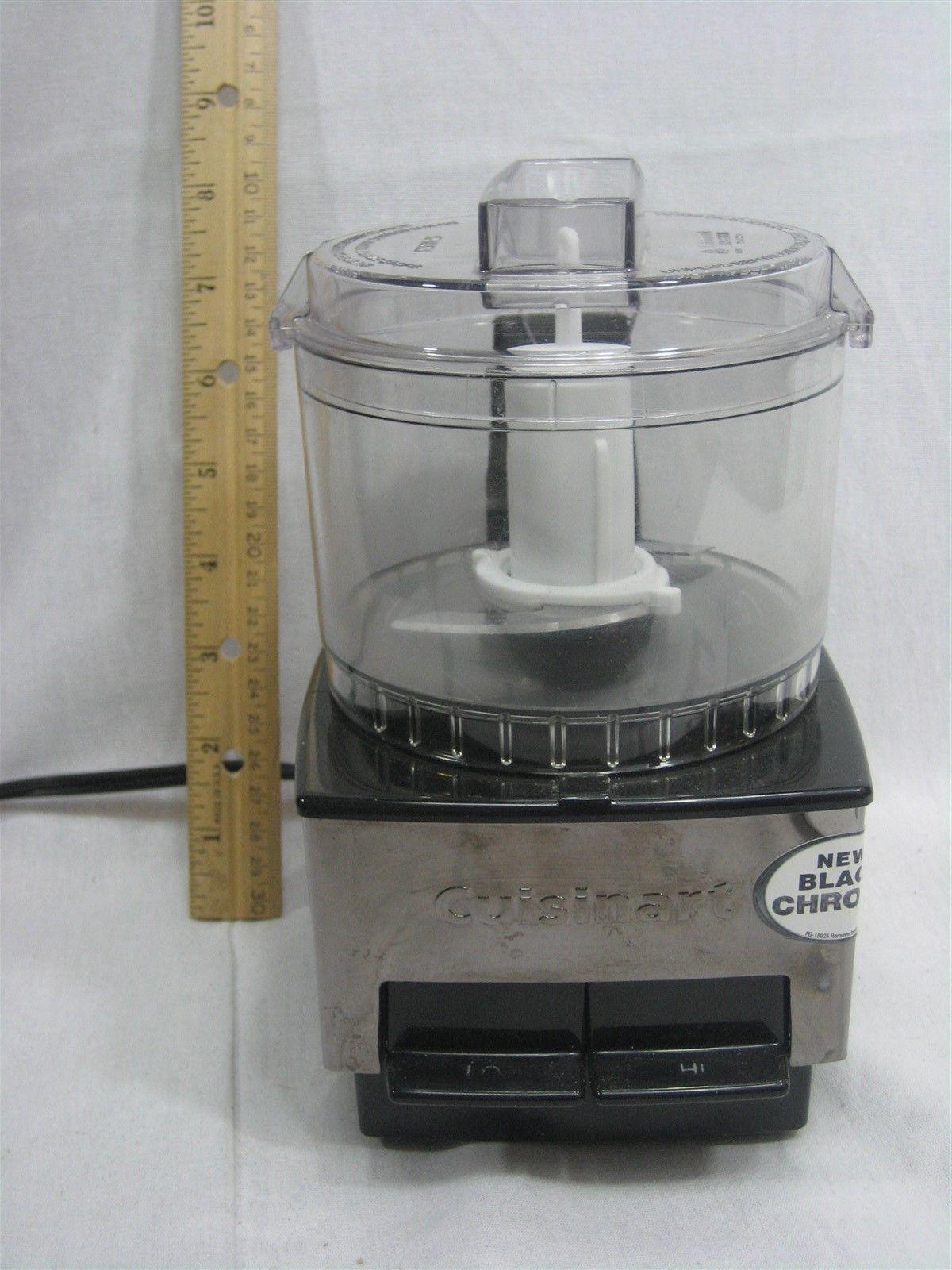 Cuisinart Mini-Prep Food Processor Black Chrome Series 21 Ounce Model DLC-1SS