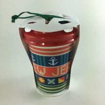 Starbucks 2017 New Jersey Christmas Ornament Local State Collection To Go Cup - $21.55