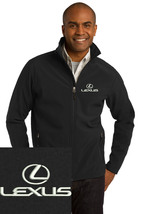 Lexus logo Black Embroidered Port Authority Core Soft Shell Jacket J317 - $39.99