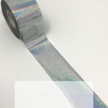 Rainbow Silver Holographic Nail Foil Nail Foile Art Design 48 inches lenght - $10.00