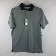IZOD Men Performance Golf High Rise Gray Short Sleeve Polo Shirt Size L ... - $39.95