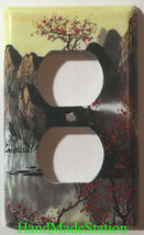 Famous Chinese Landscape Painting Light Switch Outlet Duplex Wall Cover Plate image 2