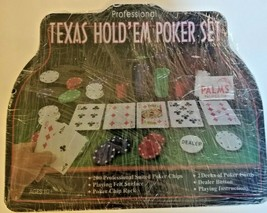 Cardinal's Professional Texas Hold'em Poker Set Metal Case Brand New - $23.36