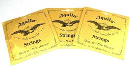 Aquila Ukulele Strings 3 Pack  Concert Regular Nylgut Made in Italy - $31.11