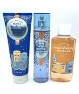 Bath & Body Works Santa's Blueberry Shortbread mist, gel & body cream 3p... - $33.32