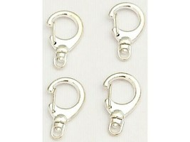 Silver Swivel Lobster Claw Clasps, 4 Count