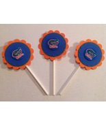 Ncaa Florida Gators Cupcake Topper Party Decoration Birthday Handmade Bl... - $12.00