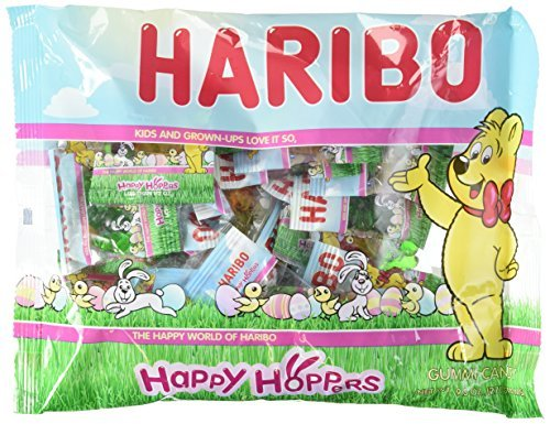Haribo Happy Hoppers Gummi Candy Individually Wrapped for Easter Egg Hunts and B