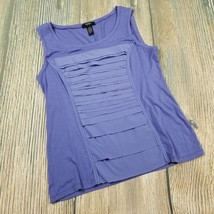 ALFANI PETITE size MP women purple sleeveless tank top EUC (F77) - $5.94