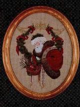 Gift Of Peace santa cross stitch Lavendar & Lace Marilyn Leavitt-Imblum - $10.80