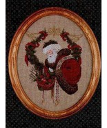 Gift Of Peace santa cross stitch Lavendar & Lace Marilyn Leavitt-Imblum - $10.80