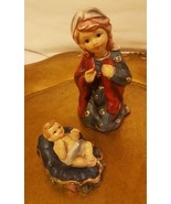 Nativity Set of 2 decorations:  Mary and Baby Jesus, pre-owned, Christma... - $24.30