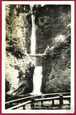 OREGON COLUMBIA RIVER Hwy Muhnomah Falls RPPC OR