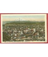 PORTLAND OREGON Bird's Eye Mt Hood Postcard BJs - $6.50