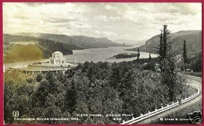 OREGON Columbia River Hwy Vista House Crown Pt RPPC