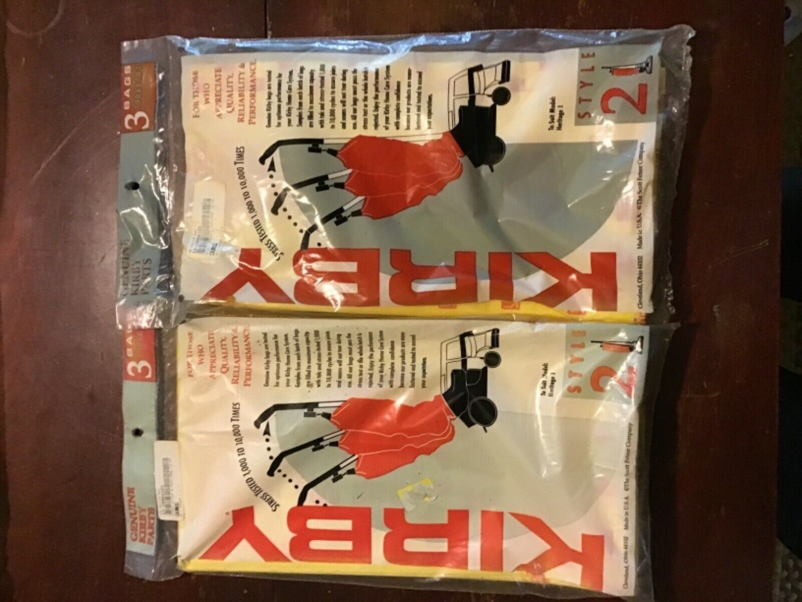 Lot of 2 Kirby Style 2 Vacuum Cleaner Bags  6 pcs per bag 12 total PCs