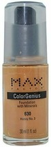 Max Factor Color Genius Foundation 630 Honey No. 3 - $11.38