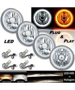"5-3/4"" Switchback White DRL Angel Eye Halo / Amber Turn Signal LED Headl... - $449.95"