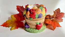 PartyLite Fruit Medley Votive Tealight Holder Fall Autumn Basket Decoration - $14.73