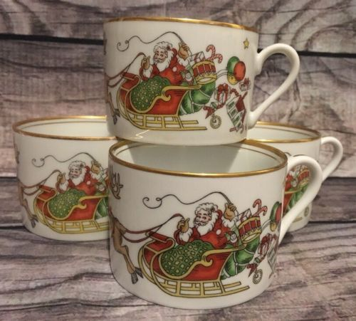Fitz And Floyd St Nicholas Cups Set Of 4 Retired Christmas Holiday China - $37.39 & Fitz Floyd Cup: 6 listings
