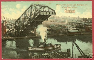 Primary image for Cleveland Cuyahoga River Lift Bridge 1912 Postcard BJs