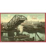 Cleveland Cuyahoga River Lift Bridge 1912 Postcard BJs - $8.99
