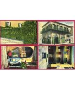4 NEW ORLEANS LINEN POSTCARDS Very Colorful Absinthe LA - $10.00