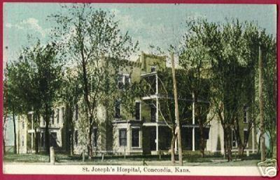 CONCORDIA KANSAS St Josephs Hospital 1911 KS