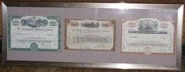 Framed Monopoly Stock Certificates - $125.00